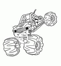 Blaze Monster Truck Stripes Coloring Page For Kids, Transportation ...