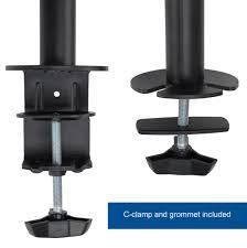 Vesa Desk Mount Articulating Arm by Stand V102 Vivo Full Motion Dual Monitor Desk Mount Vesa Stand