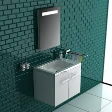 alpenberger komplett badmöbel set 50 x 33 cm waschbecken mit integriertem überlauf aus mineralguss unterschrank mit softclose funktion spiegel