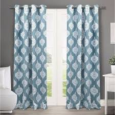 Target Blackout Curtains Smell by Blackout Teal Curtains Target