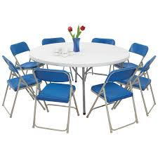 NPS Blow Molded Round Table And Folding Chair 9 Pc. Set Costco Best Groceries Tools Thanksgiving Kitchn Set Of 4 Padded Folding Chairs In S66 Rotherham Restaurant Chairs Whosale Blue Ding Living Room Ymmv Timber Ridge Camp On Clearance Folding Card Table And Information Sco Lifetime 57 X 72 Wframe Pnic Broyhill Lenoir 5piece Counter Height Details About 5 And Black Game Party New Kids With Lime 6 Foot Adjustable Fold In Half 8 White Amateur Comparison Vs Walmart Mainstay