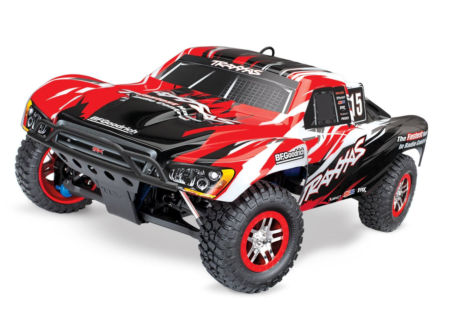 Traxxas Slayer Pro 4x4 Nitro Powered 4WD Truck - Red, Scale 1:10
