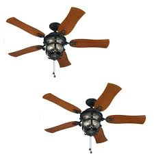 Allen Roth Ceiling Fan Manual by Set Of 2 Harbor Breeze Lake Placido 52 In Aged Iron Outdoor