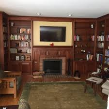 Living Room With Fireplace And Bookshelves by Custom Cabinetry Stigler U0027s Woodworks Cincinnati Oh