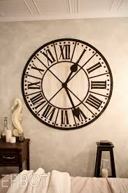 Luxury Living Room With Black Extra Large Wall Clocks Roman Numeral Numbering Style And