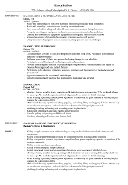 Download Landscaping Resume Sample As Image File