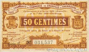 chambre du commerce cherbourg 50 centimes regionalism and miscellaneous granville et