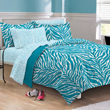 Aqua Blue Zebra Bedding Twin XL Full Queen Teen Girl forter Set