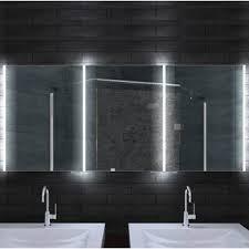 led lichtspiegel schrank 160x70 cm steckdose sensorschalter