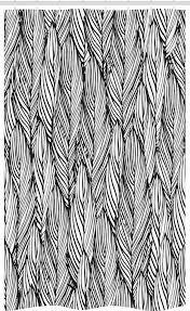 abakuhaus duschvorhang badezimmer deko set aus stoff mit haken breite 120 cm höhe 180 cm feder monochrome überblick kaufen otto