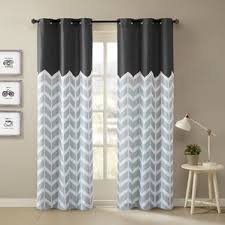 Grey And White Chevron Curtains by Chevron Curtains You U0027ll Love Wayfair