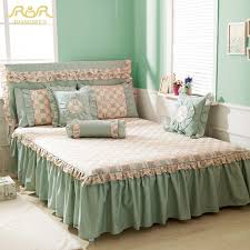 ROMORUS New Beautiful Princess Floral Bed Skirt  Cotton Twin