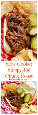 Sloppy Joe Chuck Roast In The Slow Cooker