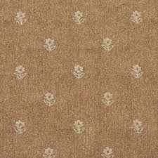 Light Brown And Beige Flowers Country Upholstery Fabric By The Yard