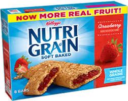 KelloggsR Nutri GrainR Soft Baked Breakfast Bars Strawberry