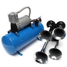 100 Air Horn Kits For Trucks 4 Trumpet Train Vehicle 12V24V Compressor Tubing 150dB 120