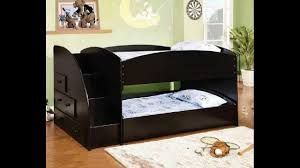 Storkcraft Bunk Bed by Merritt Black Finish Wood Twin Over Twin Short Style Bunk Bed With