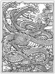 Prissy Design Dragon Coloring Pages For Adults