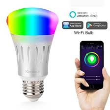kimitech wi fi smart led light bulb work with white and