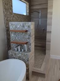 mosaic tile shower design ideas small modern shower area with