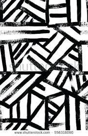 Modern Art Black And White Contemporary Design Grunge Vector Seamless Texture For Textile It
