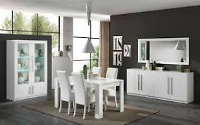 details zu 10 teiliges wohnzimmermöbel esszimmermöbel italienische möbel weiß hochglanz