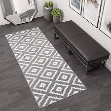 tapiso läufer brücke flur teppich muster karo modern in