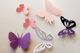 Wall Decoration With Paper Butterfly From Etsy