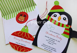 Printable Penguin Invitation Or Christmas Cards Card Craft Templates