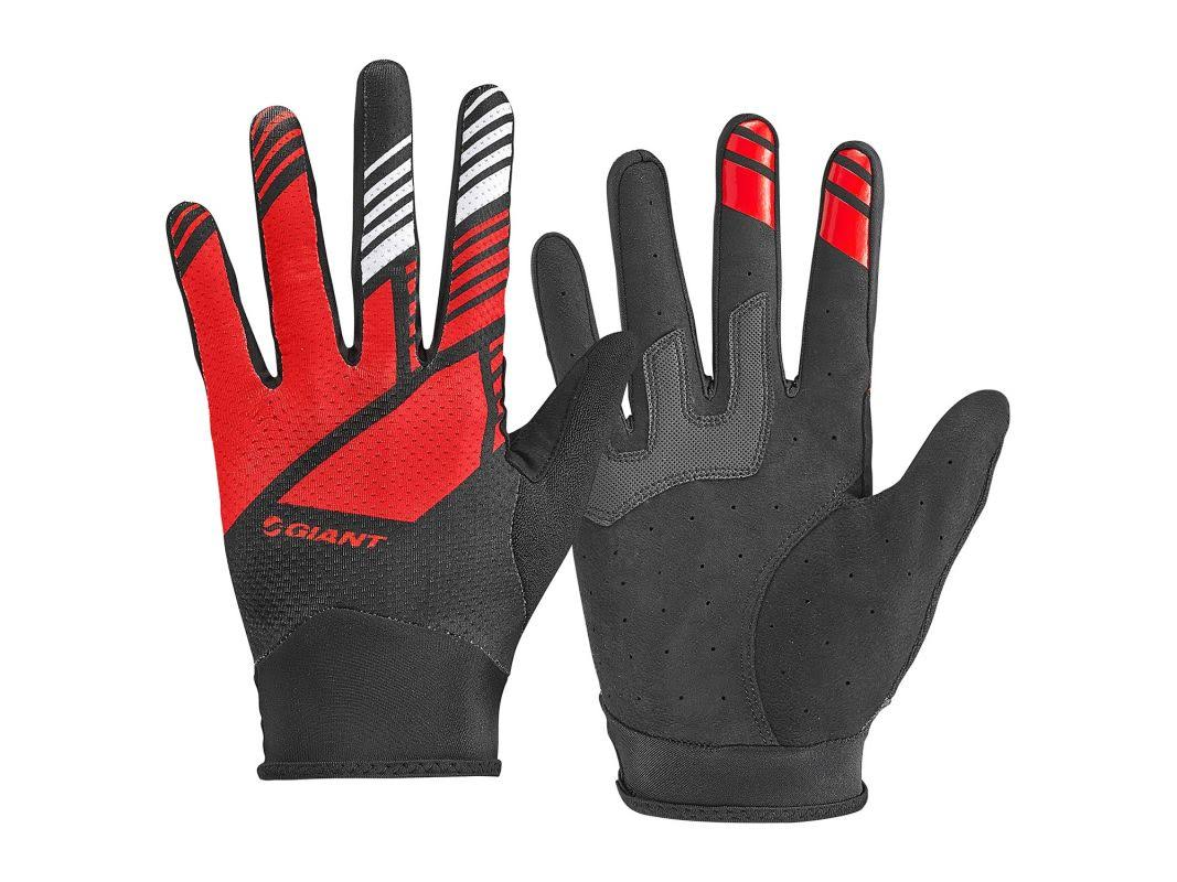 Giant Transfer Long Finger Gloves - Red/Black - X-Large