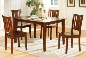 rustic casual eating room design with 4 pieces cheap kitchen table