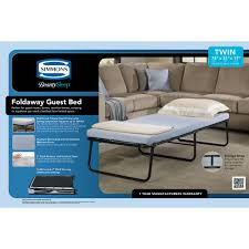 Sofa Bed Mattress Walmart Canada by Simmons Beautysleep Foldaway Guest Bed Cot With Memory Foam