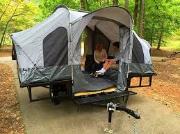 Folding Camper Tent Utility ATV Trailer Motorcycle Camp Camping Popup Pop Up