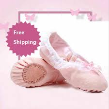 Pink Adults Canvas Slipper Ballet Shoes Children Sole Toe Ballerina Girls Yoga