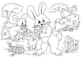 Free Printable Easter Bunny Coloring Sheets Pages Online