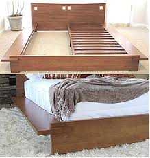 this japanese platform bed is made of 100 solid para hardwood