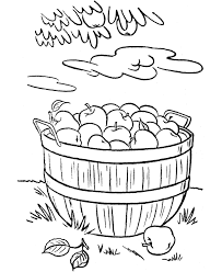 Basket Of Apples Colouring Pages Page 2