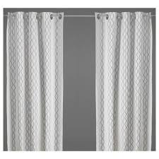 ikea henny rand cotton fabric curtains 98 x 57 one pair by ikea