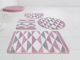 runner hochwertige badeteppich 2 tlg set design rosa blumen