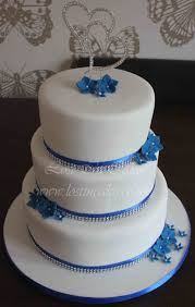 Was Done For A Beach Royal Blue Wedding Cupcakes Cupcake Tower This