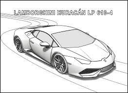 Lamborghini Coloring Pages Huracan