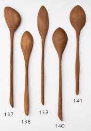 wooden spoon hand carved from pear wood one of a kind