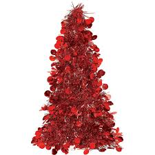 3D Red Tinsel Christmas Tree Image 1