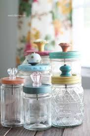 Acrylic Paint Foam Brushes Sealer Old Food Jars Recycled Or Mason