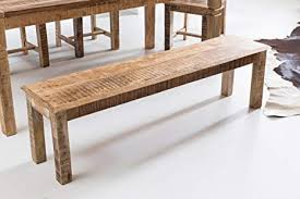 finebuy wohnling esszimmerbank wl5 081 braun 160x45x38 cm mango massivholz küchenbank holzbank landhausstil braun bank für esszimmer tisch klein