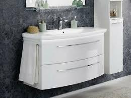 details zu fackelmann lino waschplatz weiß hochglanz 110 cm badmöbel badezimmermöbel