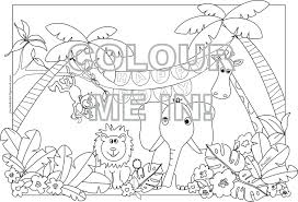Printable Jungle Animal Colouring Pages Animals Coloring To Print Realistic Free Full Size