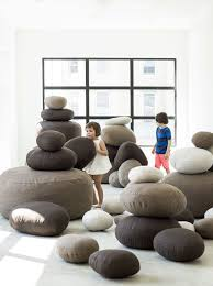 Pebble-like Pouffes For A Playroom | Soft Furnishings, Bean ... Giant Bean Bag Huge Chair Extra Large 3 Ft Beige Shag Fur Doublestitched 4 Foot Oversized Foam Filled Chill Sack 6 Memory Fniture Big Sofa With Soft Micro Fiber Cover Tan Pebble Noble House Tannery Faux 18280 The Home In Black Wn Design Beanbag Round Kids Living Pty Ltd Stone Bean Bags Chantalrussocom Ultimate Faq Answering The Top 20 Questions About Na Teardrop Without Beans Price