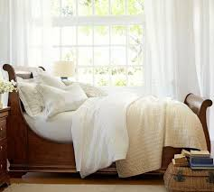 sleigh bed pottery barn