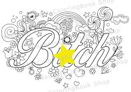 Btch Swear Words Printable Coloring Pages Word
